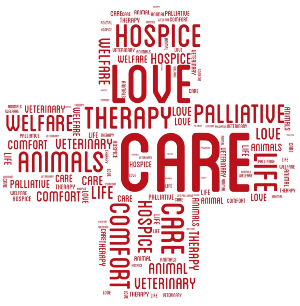 animals in hospice care cross diagram